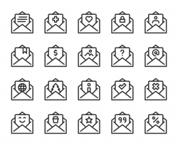 Letter - Line Icons
