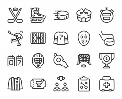 Ice Hockey - Line Icons