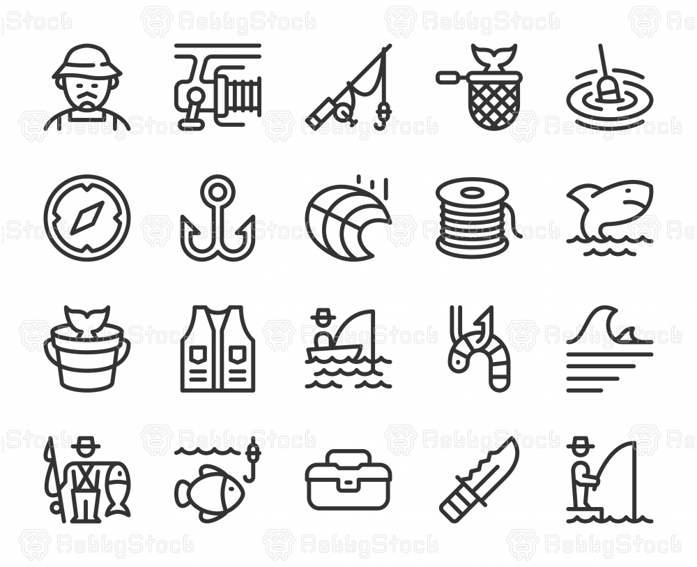 Fishing - Line Icons
