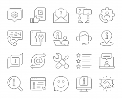 Customer Service - Thin Line Icons