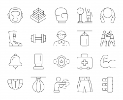 Boxing - Thin Line Icons