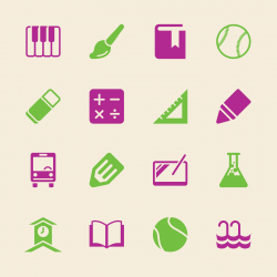 School Icons Set 2 - Color Series | EPS10