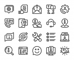 Customer Service - Bold Line Icons