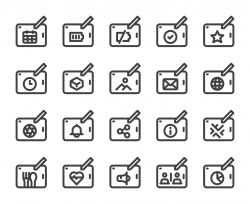 Digital Tablet Set 2 - Bold Line Icons
