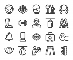 Boxing - Bold Line Icons