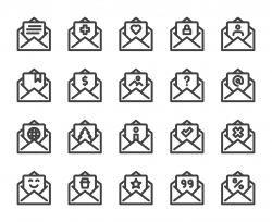 Letter - Bold Line Icons