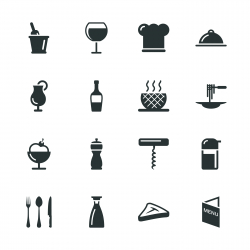 Restaurant Silhouette Icons