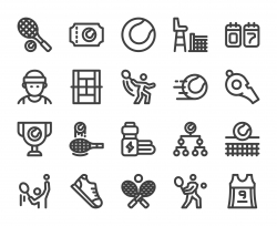 Tennis - Bold Line Icons
