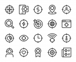Target Concept - Bold Line Icons