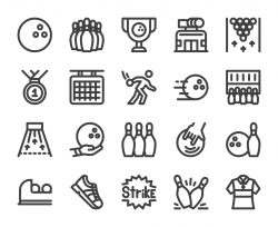 Bowling - Bold Line Icons
