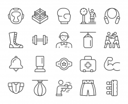Boxing - Light Line Icons
