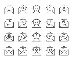 Letter - Light Line Icons