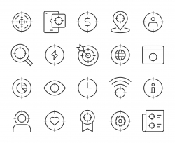Target Concept - Light Line Icons