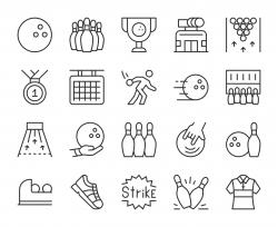 Bowling - Light Line Icons