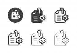 Document Edit Icons - Multi Series