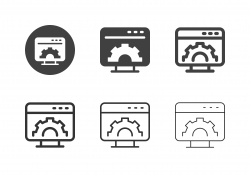 Computer Setting Icons - Multi Series