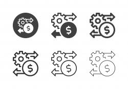 Financial Setting Icons - Multi Series