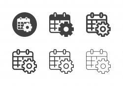 Calendar Setting Icons - Multi Series