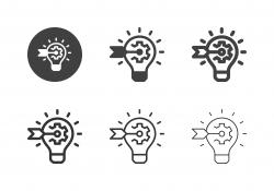 Industrial Idea Target Icons - Multi Series