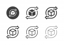 Delivery Process Icons - Multi Series