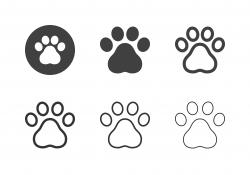 Paw Print Icons - Multi Series