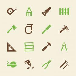 Carpenter Icons - Color Series | EPS10