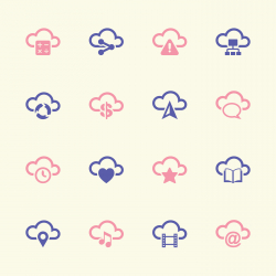 Cloud Computing Icons Set 2 - Color Series | EPS10