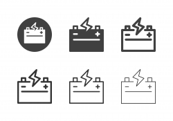 Car Battery Icons - Multi Series