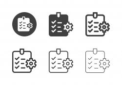 Manufactured Checklist Icons - Multi Series