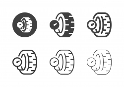 Inflate Tire Icons - Multi Series