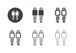 Shock Absorber Icons - Multi Series