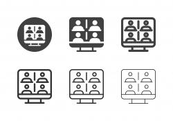 Online Meeting Icons - Multi Series