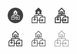 House Connecting Icons - Multi Series