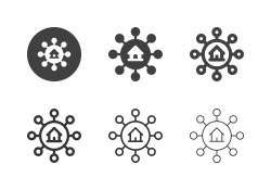House Networking Icons - Multi Series