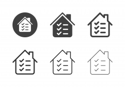 Checklist House Inspection Icons - Multi Series