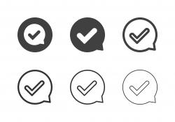 Check Mark Bubble Icons - Multi Series