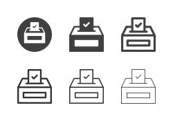 Election Box Icons - Multi Series