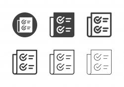 Checklist Document Icons - Multi Series