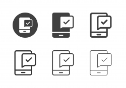 Mobile Confirmation Icons - Multi Series