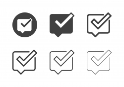 Checking Bubble Icons - Multi Series