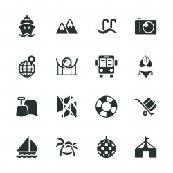 Travel and Vacation Silhouette Icons | Set 3