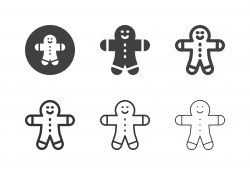 Gingerbread Man Icons - Multi Series