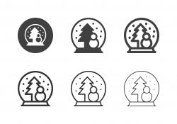 Snow Globe Icons - Multi Series