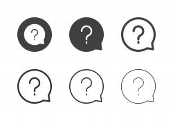 Question Bubble Icons - Multi Series