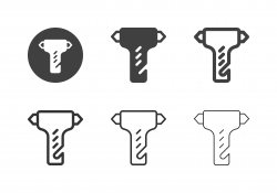 Safety Hammer Icons - Multi Series