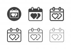 Valentine Day Icons - Multi Series