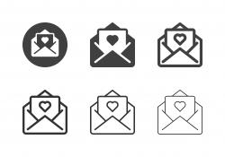 Valentine Card Icons - Multi Series