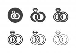Wedding Ring Icons - Multi Series