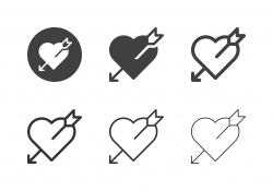 Heart with Arrow Icons - Multi Series