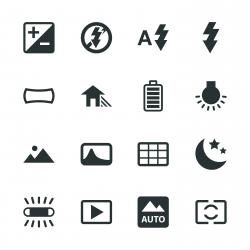 Camera Menu Silhouette Icons | Set 4